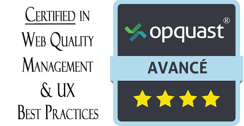 Opquast Certification badge